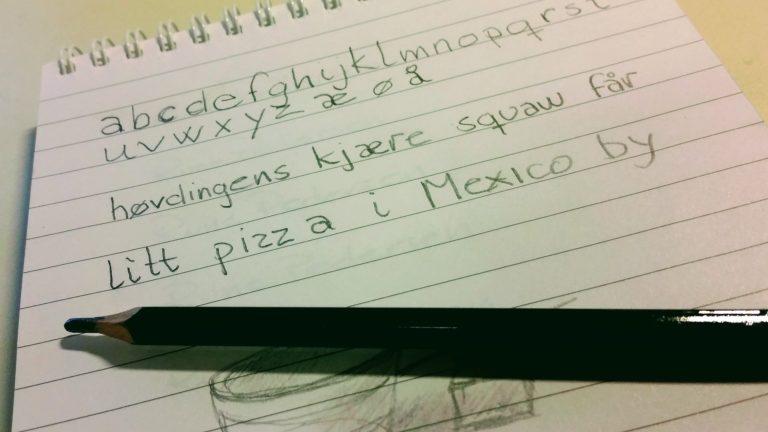 En liten øvelse i håndskrift